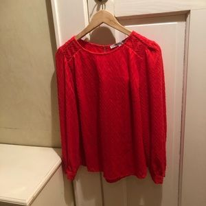 Collective Concepts red chevron blouse S